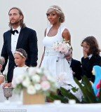 David Guetta and his wife Cathy renewed their vows in an intimate ceremony in front of close friends and family