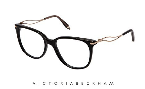 "Each piece in the collection is handcrafted in Italy and is distinctive as a Victoria Beckham design by a ""V"" tip at the end of each arm"