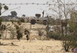 Egyptian army helicopters have fired missiles on suspected Islamist militants in Sinai peninsula