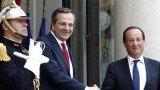 French President Francois Hollande has urged Greece to prove it can pass reforms demanded by international creditors, after talks with PM Antonis Samaras