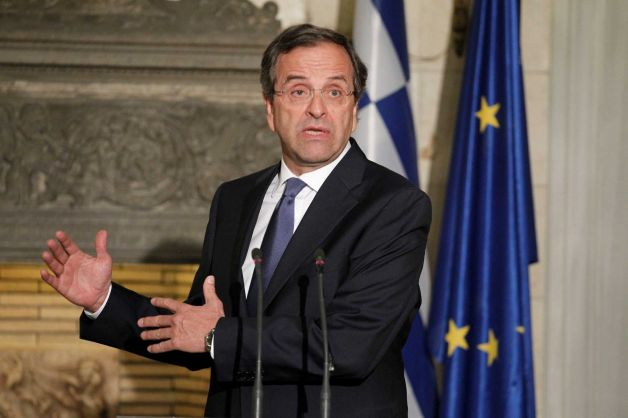 Greece's Prime Minister Antonis Samaras is expected to repeat his plea for more time to implement reforms when he meets French President Francois Hollande
