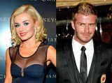 Katherine Jenkins took to her Twitter page to blast rumors that she had an affair with David Beckham