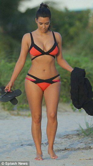 Kim Kardashian showed off her beach ready curves in Miami