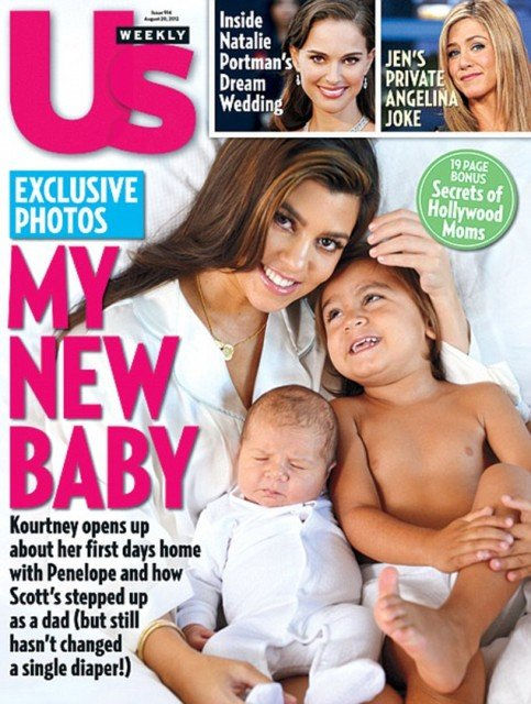 Kourtney Kardashian has delighted her millions of fans by introducing her little girl Penelope Scotland Disick on the front of Us Weekly magazine