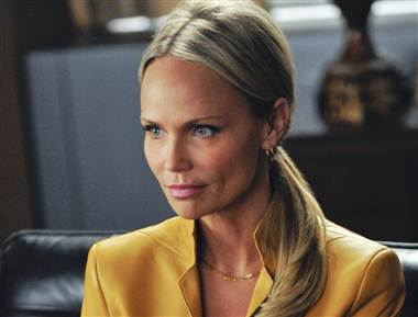 Kristin Chenoweth has left The Good Wife to recover from injuries she sustained after being struck by a piece of lighting equipment on the set