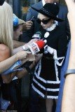 Lady Gaga dressed extremely conservatively in a monochrome ensemble as she stepped out in Bucharest, Romania