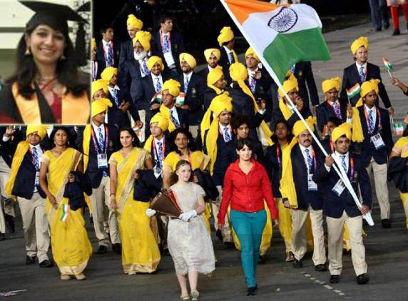 Madhura Nagendra the woman who appeared in Indias Olympic contingent in the opening ceremony has apologized for an error of judgement photo