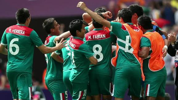 Mexico has beaten Brazil with 2-1 at Wembley and has won the men's Olympic football gold medal for the first time