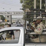 Minhas military air base in Pakistan has been attacked by gunmen triggering a fierce fire-fight with security forces that lasted several hours