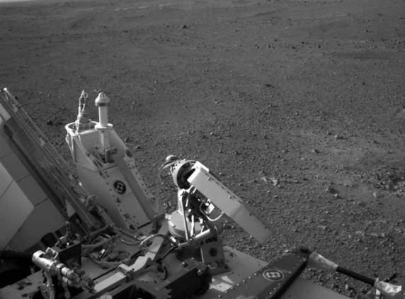 NASA's Curiosity rover turned its six wheels briefly on Wednesday to satisfy engineers that its locomotion system was in full working order