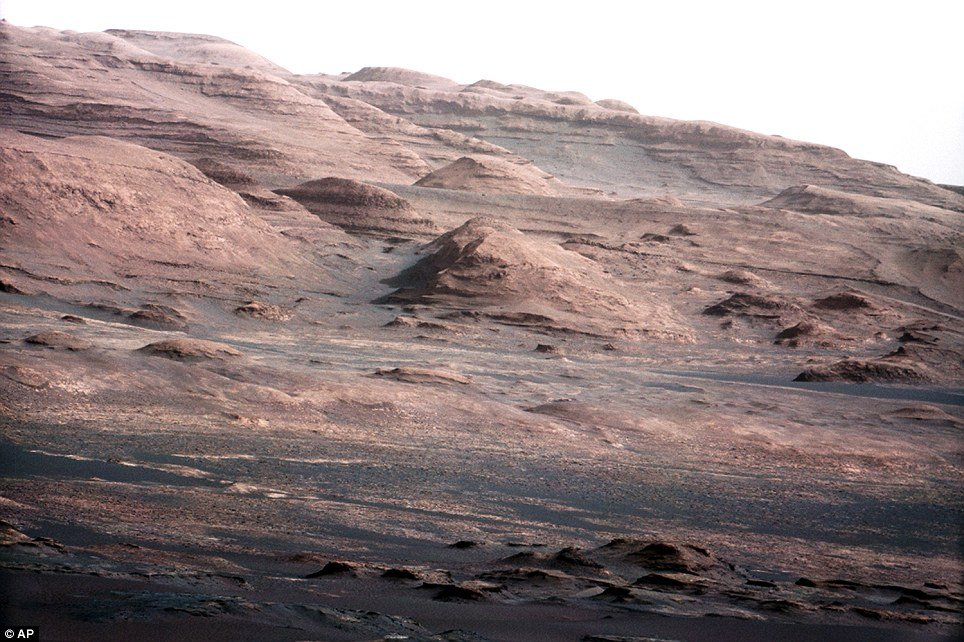 NASA has released the first spectacular images taken by the Mars rover Curiosity
