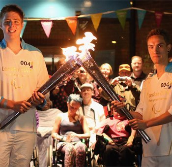 Paralympic torch has reached outer London as part of a 24-hour relay to herald the start of the 2012 Games