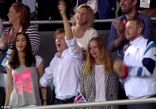 Stella McCartney enjoyed a family day out at Olympic Park with her father Sir Paul, his wife Nancy Shevell and her husband Alasdhair Willis
