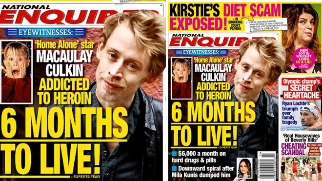 The National Enquirer is firmly standing by its story that Macaulay Culkin is hooked on heroin and highly addictive painkillers