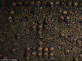 The Paris catacombs are a 200-mile network of old caves, tunnels and quarries and much of it is filled with the skulls and bones of the dead