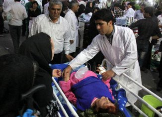 Two strong earthquakes have hit north-western Iran, leaving at least 87 people dead and 400 more injured
