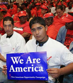 Undocumented immigrants are applying for the temporary right to live and work openly in the US, as a sweeping immigration policy reform takes effect