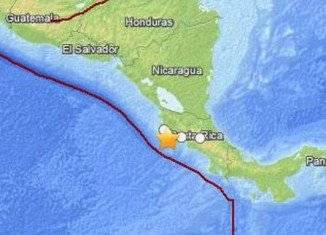 A 7.6-magnitude earthquake has rocked the north-western part of Costa Rica triggering a tsunami warning
