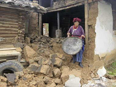 A series of earthquakes has hit south west China leaving at least 50 people dead and 150 injured photo