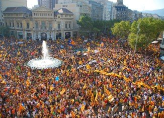 About 1.5 million people have taken part in Catalonia's annual independence rally in Barcelona