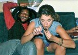 Brooke Shields was purportedly snapped several decades ago inhaling from the implement while sitting on a couch with HR