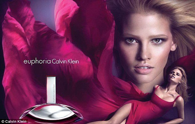 Calvin Klein Fragrances announced a new worldwide advertising campaign for euphoria Calvin Klein featuring Lara Stone