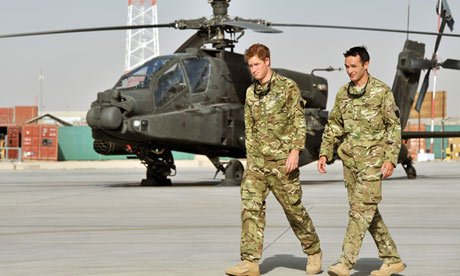 Captain Wales, as Prince Harry is known in the military, has been deployed to Afghanistan for four months