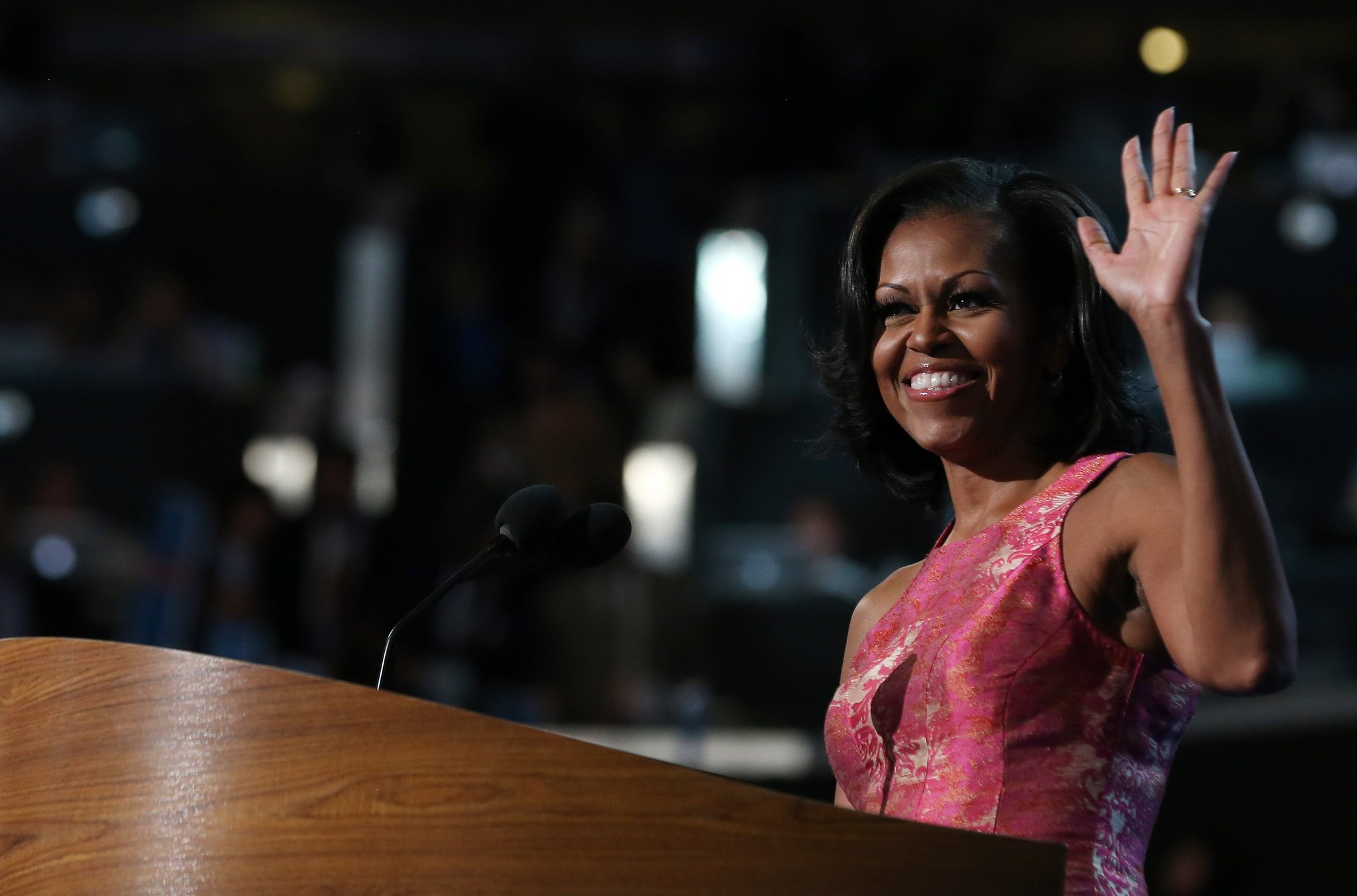 First Lady Michelle Obama has made an impassioned speech backing her husband, President Barack Obama, for another four-year White House term