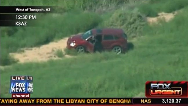 Fox News on Friday was covering a high-speed chase that began in Phoenix, Arizona, using a live helicopter shot