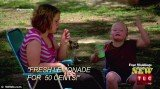 Honey Boo Boo makes lemonade to sell it and raise money for her bedazzled dresses and accessories