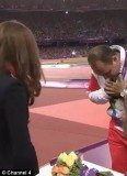 Iranian athlete Mehrdad Karam Zadeh refused to shake the Duchess of Cambridge's hand after she presented him with his discus silver medal on Sunday