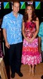 Kate wore a Cook Islands traditional dress to an event celebrating Solomon Islands' culture