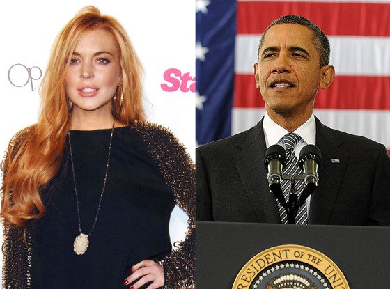 Lindsay Lohan encouraged President Barack Obama to consider lowering taxes for the one-percenters listed on the Forbes Magazine millionaires' list