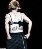 Madonna unveiled a huge Obama temporary tattoo on her back during last night concert in New York