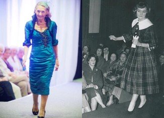 Mario Finlayson looked as though she'd never been away as she made a triumphant return to the runway at the age of 80