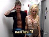 Pamela Anderson was the first celebrity to be eliminated from Dancing With the Stars on Tuesday