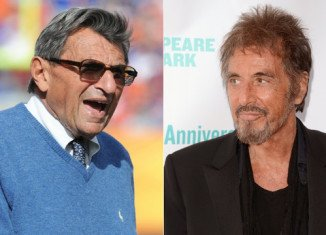 Penn State football coach Joe Paterno is about to be immortalized in a new movie starring Al Pacino