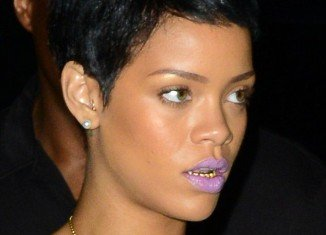 Rihanna stepped out for dinner at her favorite restaurant sporting the mouth accessory