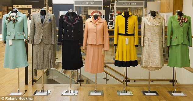 Seven outfits worn by Margaret Thatcher during the 1970s in the early part of her career are being auctioned at Christie's on Monday