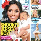 Snooki shows off her eight-day-old baby boy Lorenzo on the cover of this week's People magazine
