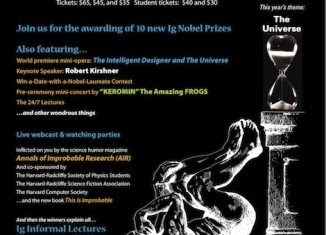 The Ig Nobel Prizes are an American parody of the Nobel Prizes and are given each year for ten unusual or trivial achievements in scientific research