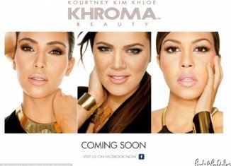The Kardashian sisters have released a handful of teaser promo shots three months before Khroma Beauty line products hit stores