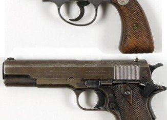 The guns used by gangsters Bonnie Parker and Clyde Barrow