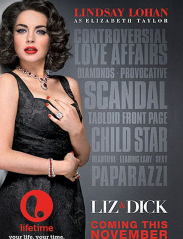 The poster for upcoming movie Liz and Dick has been released as Lindsay Lohan finds herself embroiled in yet another DUI claim