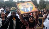 Thousands of Ethiopians are attending the state funeral in Addis Ababa of country's long-serving Prime Minister Meles Zenawi, who died last month