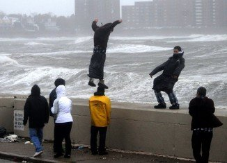 A significant number of foolhardy north-easterners are apparently refusing to follow orders ahead of Hurricane Sandy