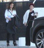 Aimee Osbourne made a rare public appearance alongside her mother Sharon,
