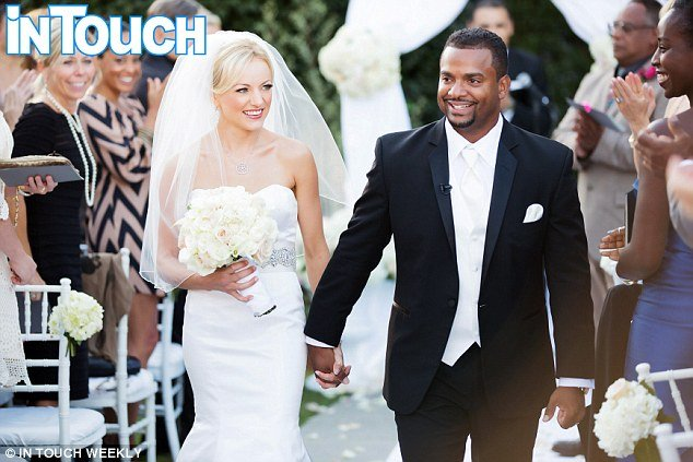 Angela Unkrich and Alfonso Ribeiro in first wedding picture