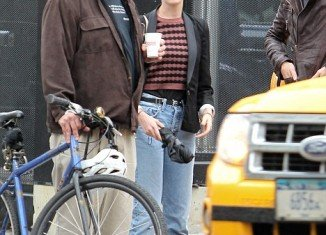 "Anne Hathaway is known for her impeccable red carpet style, but she made rare misstep in an unflattering pair of ""mom jeans"" on the streets of New York"