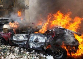 Anti-Syrian politicians in Lebanon have accused Damascus of being behind the car bomb attack